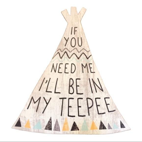 """Kid baby room Teepee woodlands theme wall art 16"""""""